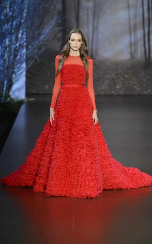 Ralph & Russo AW15 collection - red dress, red carpet dress, beautiful evening gown.
