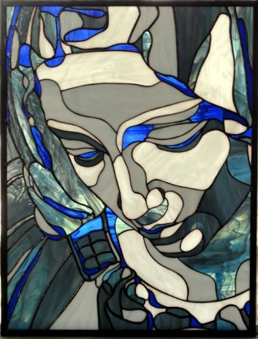 The Pieta - Delphi Stained Glass