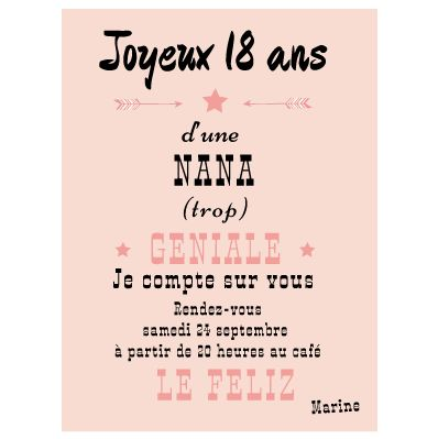 25 best ideas about carte anniversaire 18 ans on for Decoration 50 ans homme