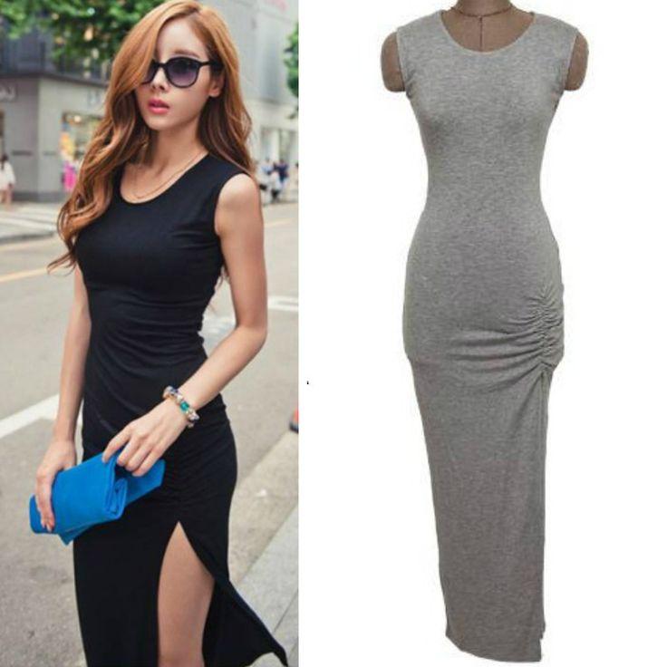 Aliexpress.com: Koop Sexy split Barelegged tank maxi jurken voor