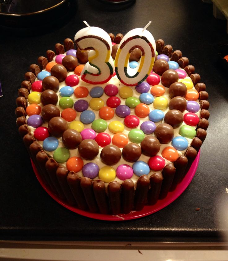 30th birthday, Birthday cakes and Chocolate sponge on Pinterest