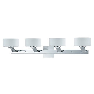 @Overstock   This Sleek Wall Fixture Will Bring A Clean Ambiance To Any  Bathroom Or Vanity. In Opal White Glass And Finished With Chrome, This Light  Is ...