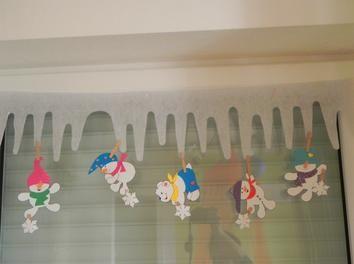 Fensterdeko Winter basteln,Kinder,Deko,Papier,Fensterdeko,Kinderbasteln