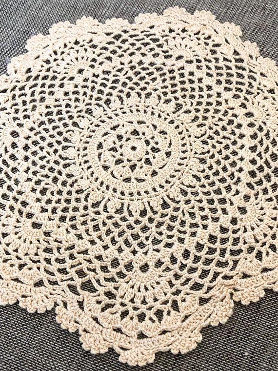 7 Inch Square Crochet Doilies, Handmade Doily