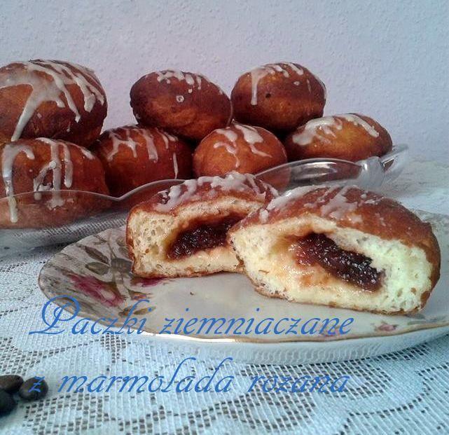 Pączki ziemniaczane z marmoladą różaną PRZEPIS