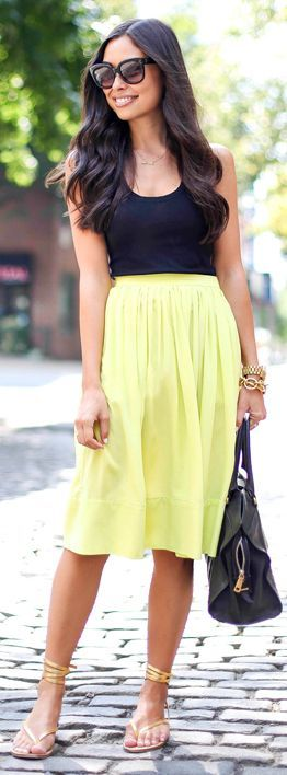 brilliant knee length skirts outfits