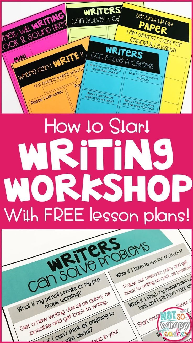 How to Start Writing Workshop at the Beginning of the Year. Great back to school writing lessons and freebies!
