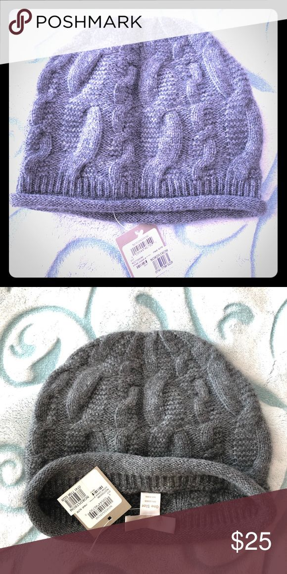Grey Knitted Cashmere Nordstrom Beanie Dark Grey Cashmere knitted beanie by department store Nordstrom. New with tags, never been worn. Very cozy & warm for the colder months. Nordstrom Accessories Hats