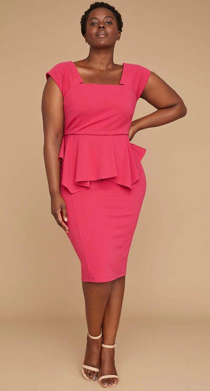 Plus Size Peplum Dress - Plus Size Fashion for Women #plussize ...
