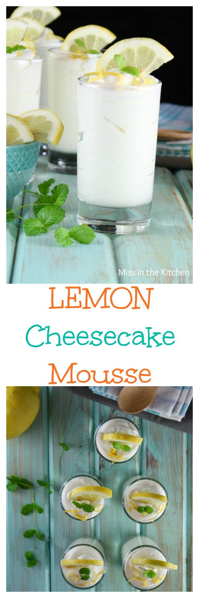 Lemon Cheesecake Mousse Recipe Quick And Easy No Bake Cheesecake Dessert Recipe Found At Missinthekitchen
