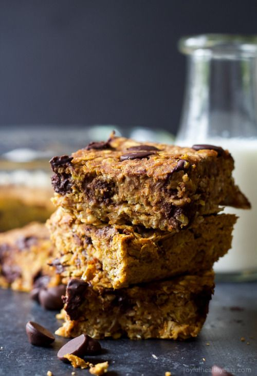 Really nice recipes. Every hour. • Chocolate Chip Pumpkin Bars Really nice recipes....