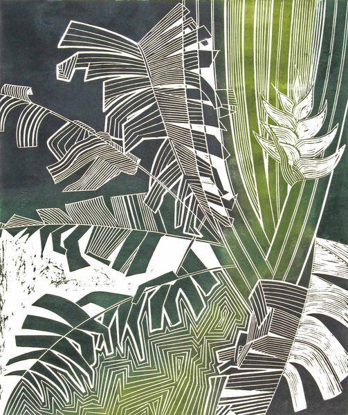 Palm Tessa Charles linocut