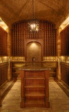 ceiling is made out of old barrels.  gorgeous.    Gabriel Builders - traditional - wine cellar - other metro - Gabriel Builders Inc.