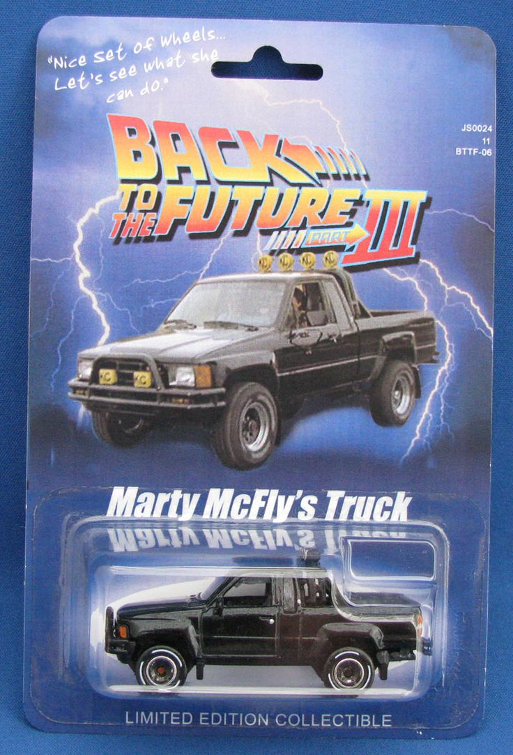 matchbox mattel hot wheels 1:64 scale custom limited edition collectible back to the future part 3 marty mcfly's truck 1985 toyota pickup truck