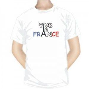 T-shirt imprimé : VIVE LA FRANCE