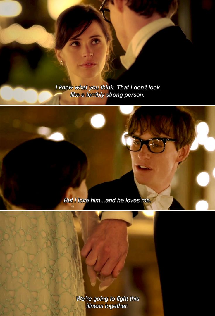 The Theory of Everything (2014). My second favorite line from the movie.