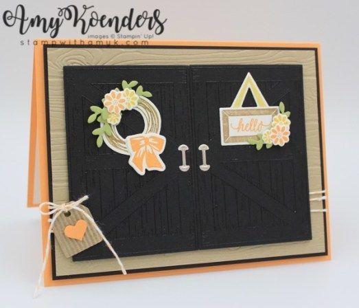 Stampin' Up! Barn Door Double Door Card – Stamp With Amy K