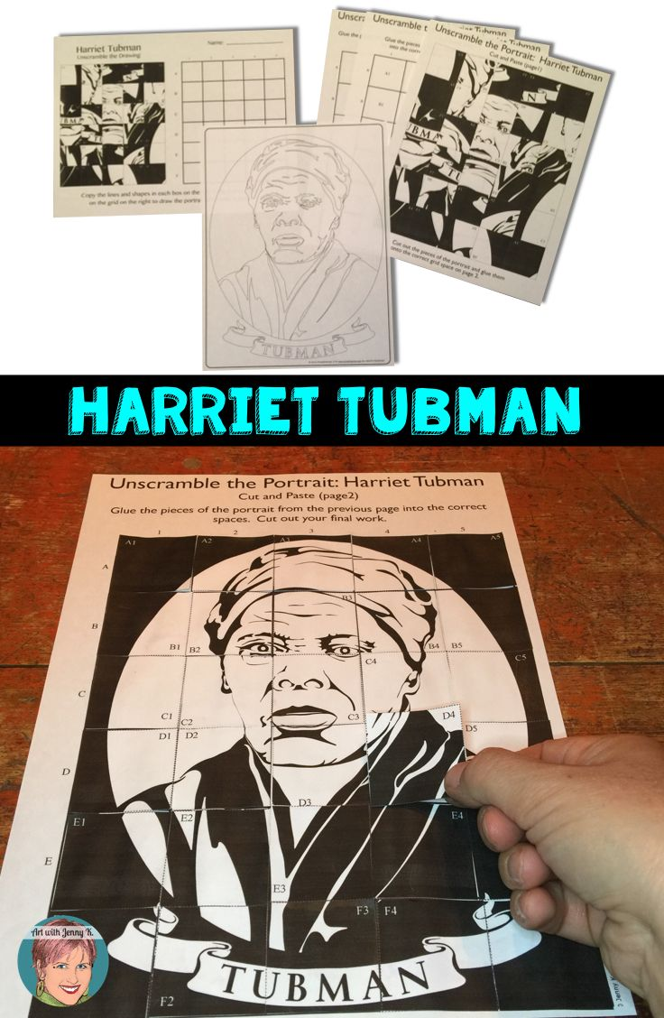 Free printable coloring pages harriet tubman - Free Harriet Tubman Art Projects For Classroom Teachers Included Unscramble The Grid Drawing