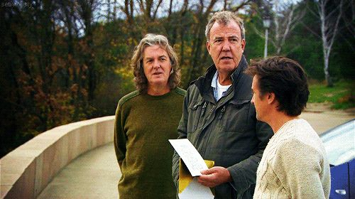 The look says it all. Top Gear Guys!