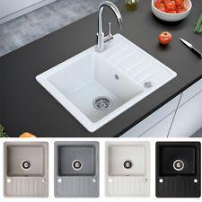 Granit Spüle Küchenspüle Einbauspüle Auflage Spülbecken+Drehexcenter+Siphon