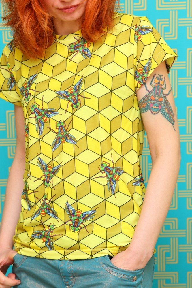 Koszulka - Muchy - PUNK PARROT - Nowa, odważna marka odzieżowa