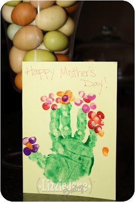 Hand Print Bouquet Card - perfect for mother's day!