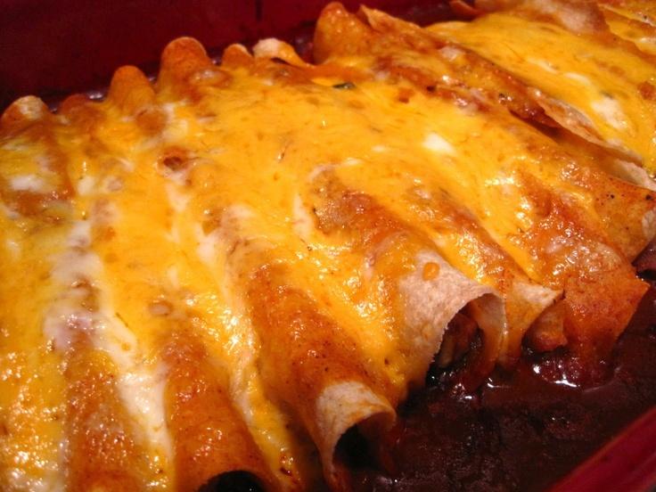 Chicken Enchiladas!  Winning.Food Ideas, Enchiladas Weak, Easy Chicken Enchiladas, Favorite Recipe, Interesting Food