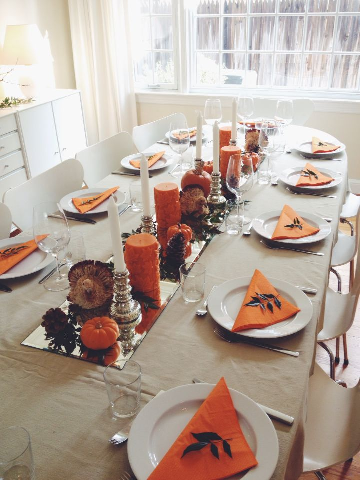 Beautiful Thanksgiving Dining Room Table Decorations