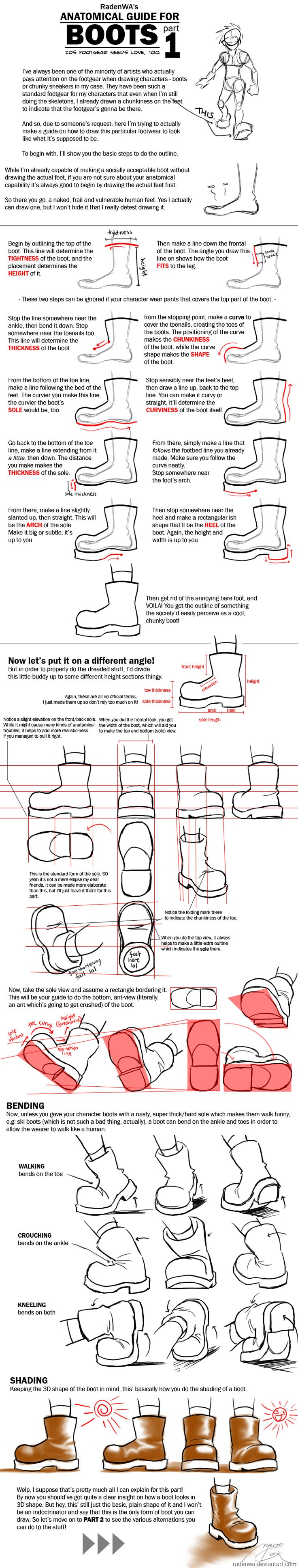 WA's BOOT Anatomy Tutorial Pt1 by *RadenWA [dA]