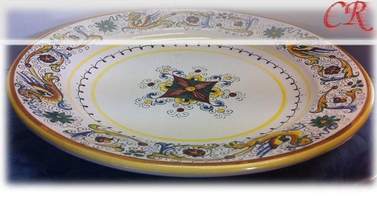Piatto Portata Tondo Raffaellesco | Ceramiche Rinascita