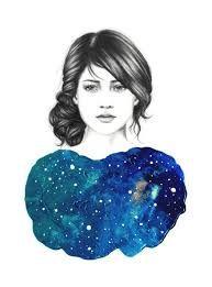 Картинки по запросу картинки девушка смотрит в космос
