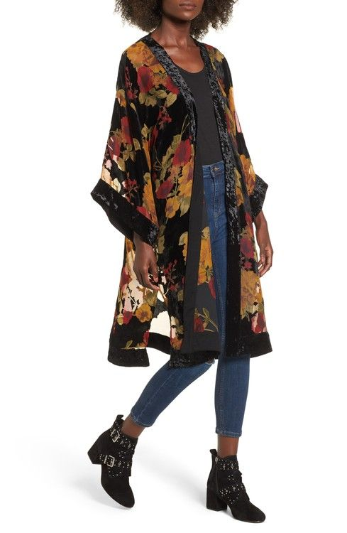 Main Image - Band of Gypsies Velvet Burnout Kimono