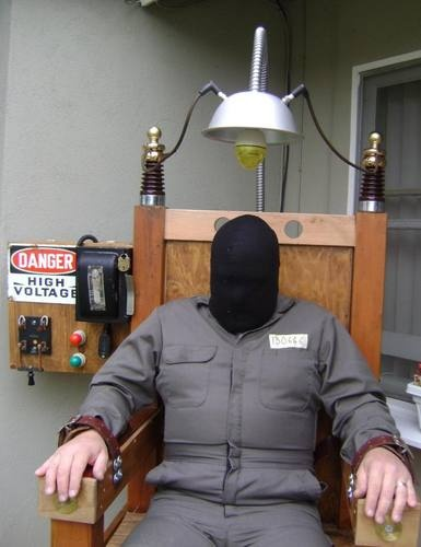 Electric Chair Halloween Prop Attraction