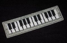 Handmade Piano Keyboard Bookmark using Plastic Canvas - NEW for sale at…
