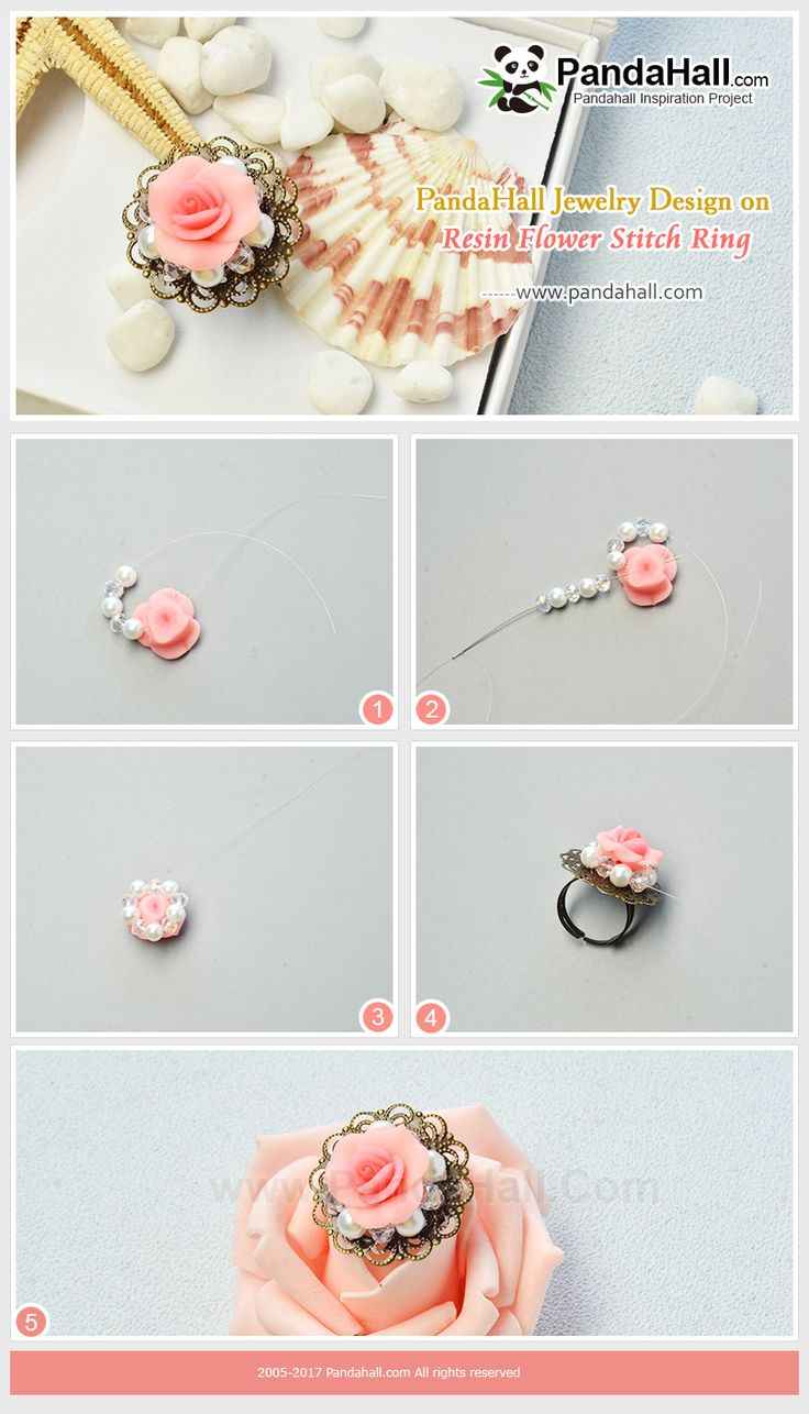 Resin Flower Stitch Ring For me, spring is a season when