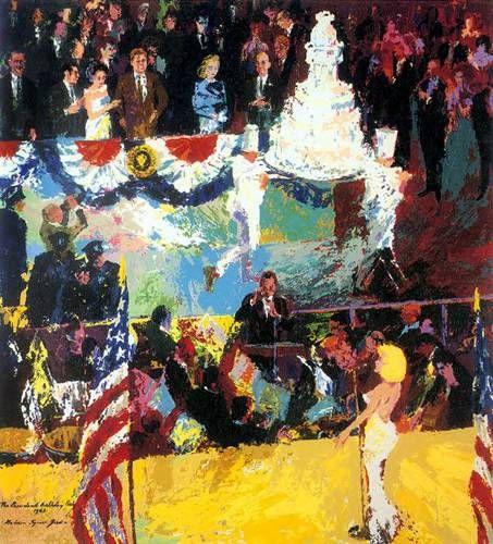 President's Birthday Party | LeRoy Neiman #leroyneiman