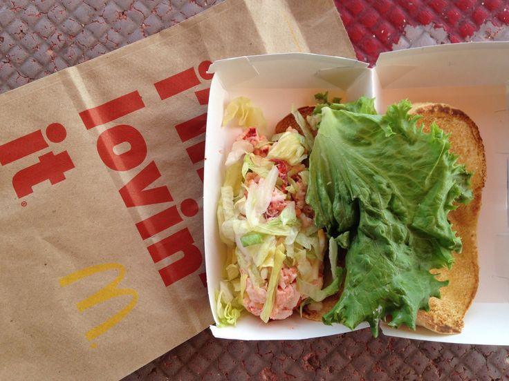 McDonald's Lobster Roll.