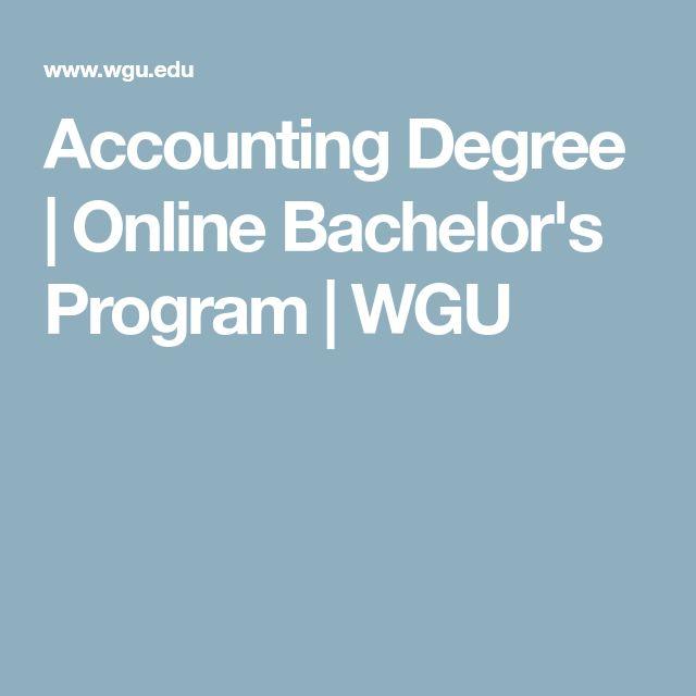Accounting Degree | Online Bachelor's Program | WGU