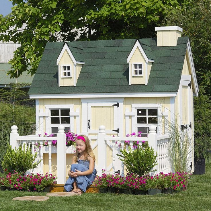 little cottage 4 x 6 cape cod wood playhouse 4x6capecod wfloor kit - Playhouse Designs And Ideas