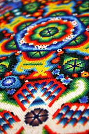 The intricate huichol bead art from #Mexico