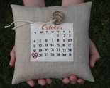 wedding date calendar pillow