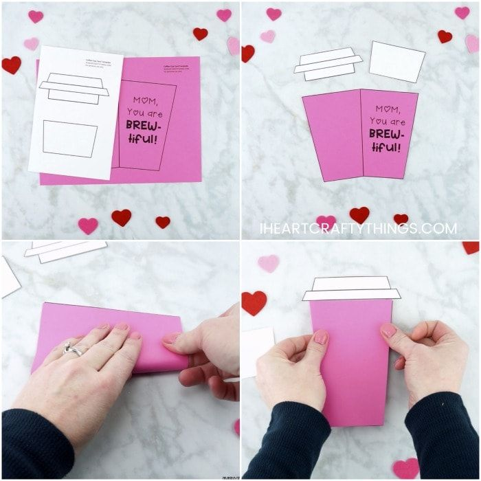Mother S Day Coffee Card Template Mother S Day Diy Diy Mother S Day Crafts Coffee Cards