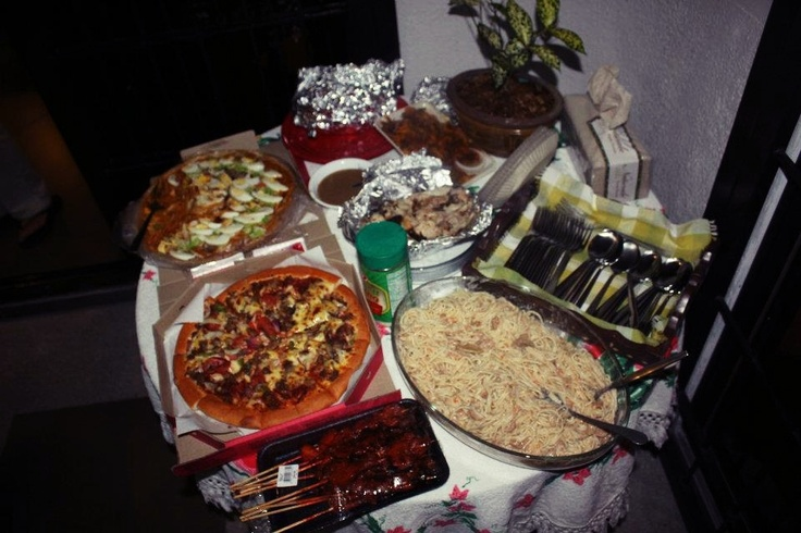 Filipino style party food. Teehee | Party Ideas | Pinterest