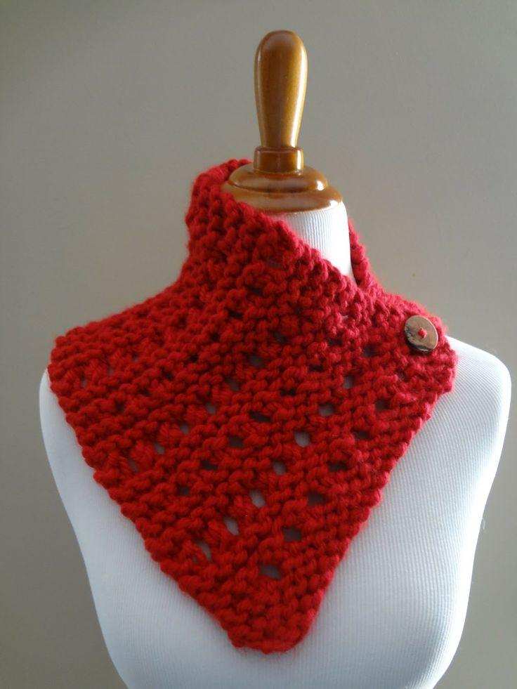 Strawberry Jam Neckwrap (Free Knitting Pattern) Festive and toasty!