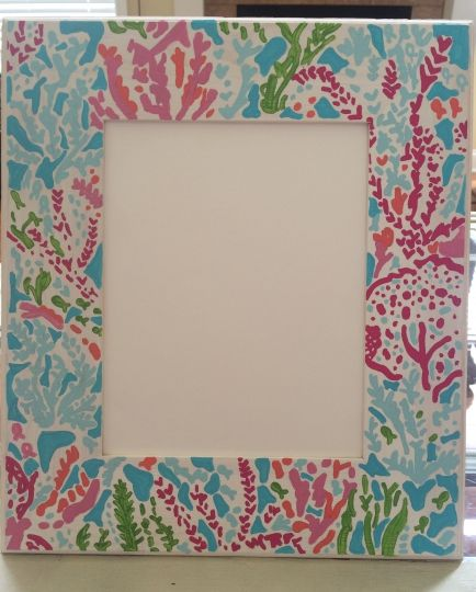 diy lilly pulitzer frame lilly lillypulitzer diy letschacha