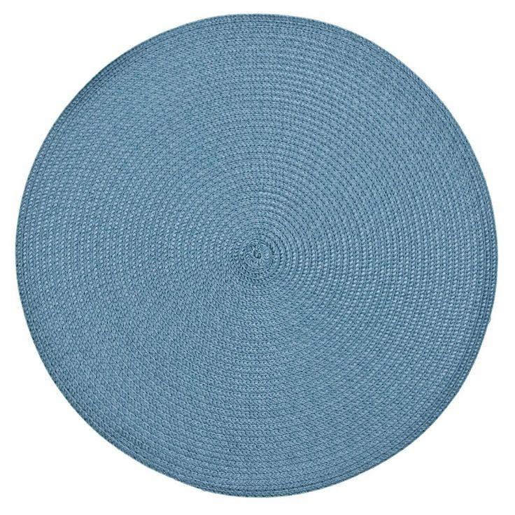 Prostírání na stůl tyrkysové barvy a kruhového tvaru