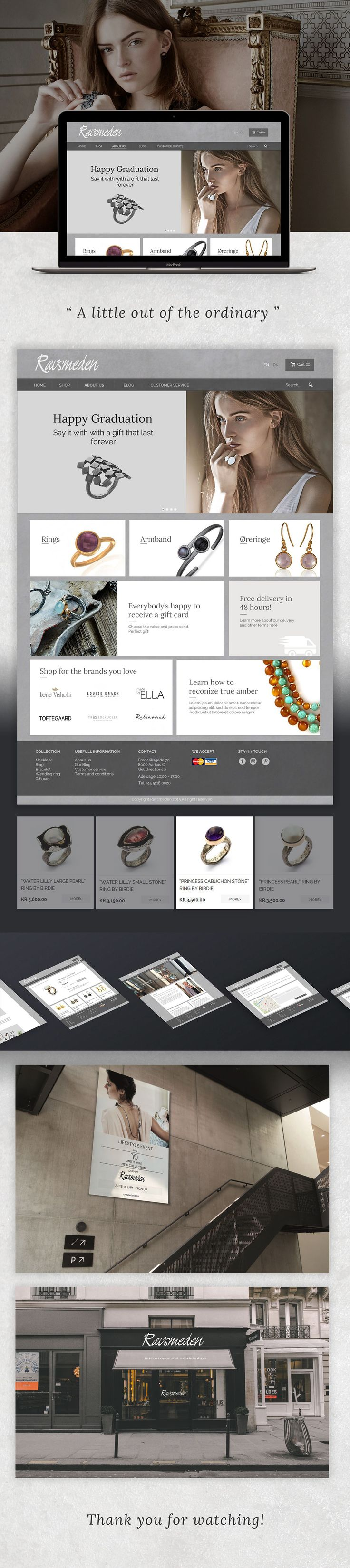 Ravsmeden Jewelry Web Design on Behance