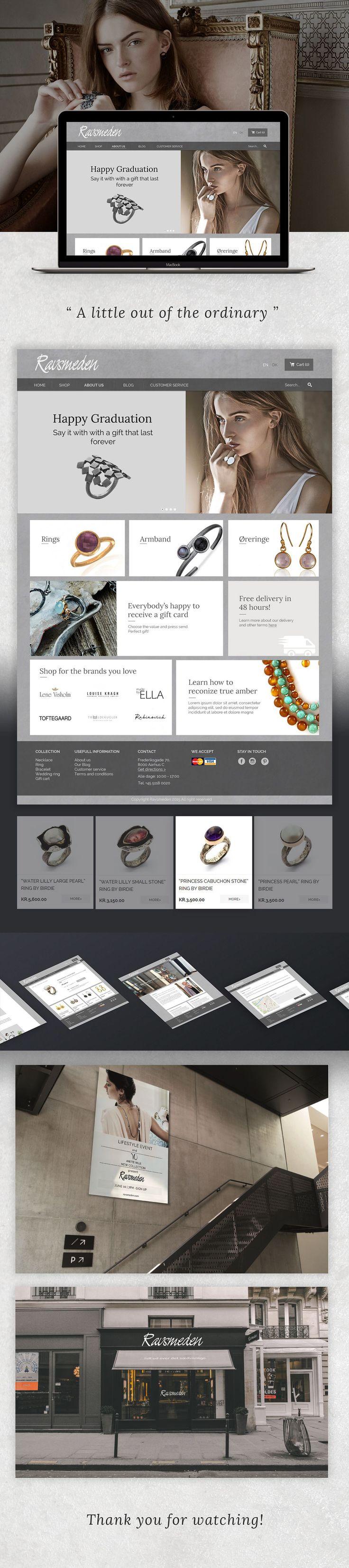 Ravsmeden Jewelry Web Design on Behance