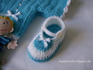 Magia do Crochet: Sapatinho em crochet para bébé - como fazer