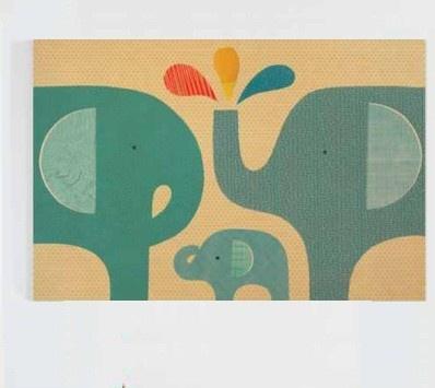 Elephant Family - 24x36 Jumbo Wood Panel